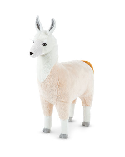 Standing Stuffed Plush Lifelike Llama