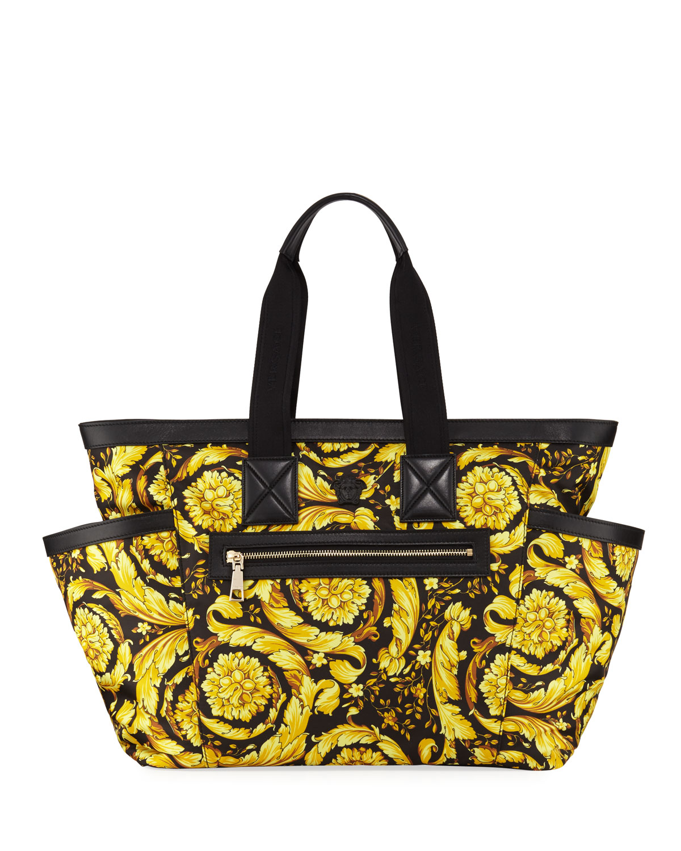 Versace Canvas Barocco-Print Diaper Bag In Multi 4f238d8ba490c