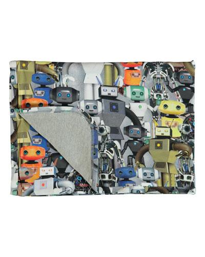 Molo Niles Robot-Print Baby Blanket