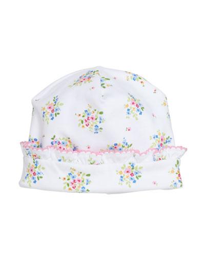 Petite Pansies Pima Baby Hat