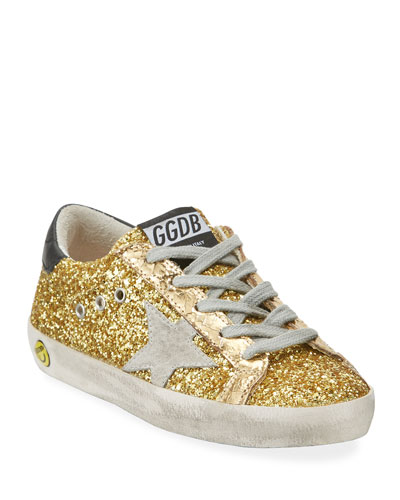 Superstar Glitter Fabric Low-Top Sneakers, Toddler/Kids