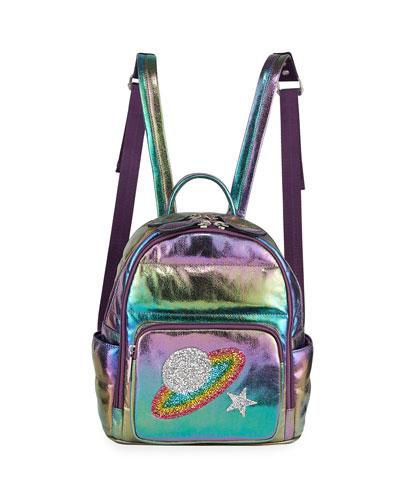 Girls' Galaxy Iridescent Puffy Mini Backpack