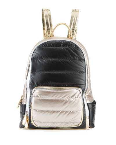 Puffy Colorblock Backpack