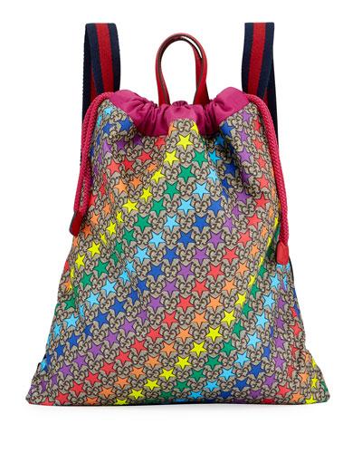 Kids' Colorful Stargirl GG Supreme Drawstring Backpack