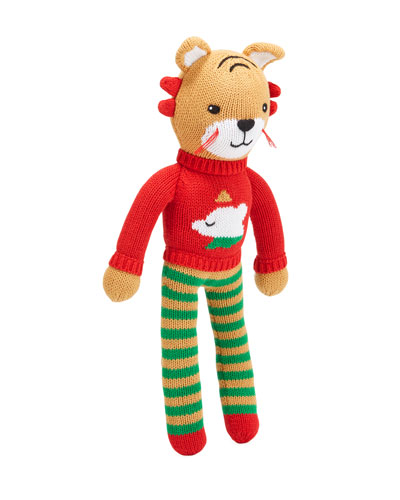 Knit Tiger Plush Doll, 14