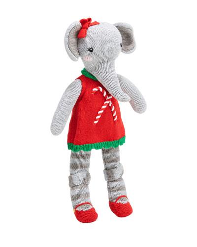 Knit Girl Elephant Plush Doll, 14