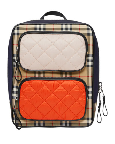 Girl's Remi Check Contrast Trim Backpack