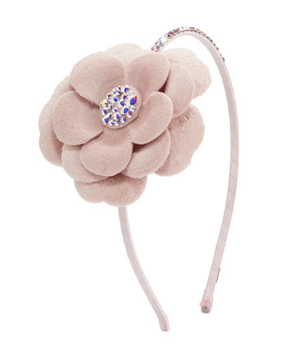 Girl's Crystal Flower Headband
