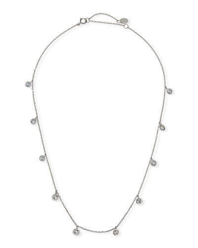 Kid Girl's Cubic Zirconia Drop Sterling Necklace