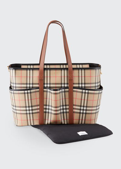 Parker Check Diaper Tote Bag