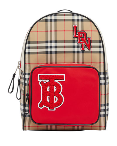 Kid's Taylor Check Backpack w/ Patches