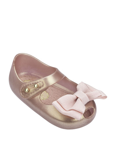 Shimmer Bow Mary Jane Flats, Kids