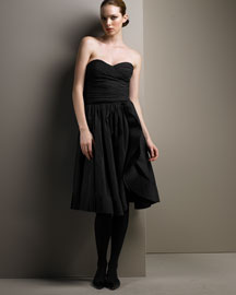 Armani Collezioni            Taffeta Bustier Top & Ruffled Skirt-  Bergdorf Goodman :  oversized bow collezioni bustier top plisse ruffle