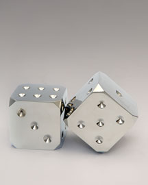 Brass & Chrome Dice