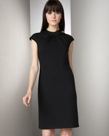 Milly Button Collar Shift Dress Dresses Bergdorf Goodman from bergdorfgoodman.com
