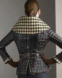 Oscar de la Renta             Lacquered Jacket & Flannel Pants-     Coats-  Bergdorf Goodman       :  jacket oscar flannel renta