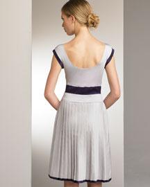 Alberta Ferretti Pleated-Skirt Dress- Alberta Ferretti- Bergdorf Goodman