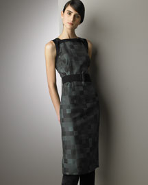 Akris Silk Sheath Dress- Akris- Bergdorf Goodman