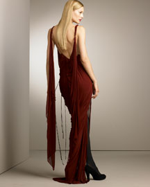 Donna Karan Draped Gown -  Designer Collections  -  Bergdorf Goodman :  luxe fall creations retro