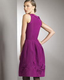 Oscar De La Renta Bow Dress -  Solids -  Bergdorf Goodman