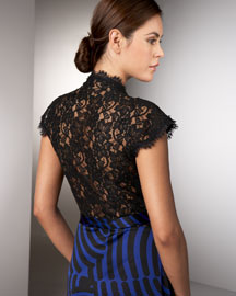 Diane von Furstenberg Lace-Back Jersey Dress -  Evening -  Bergdorf Goodman :  lace back dvf dress up dress