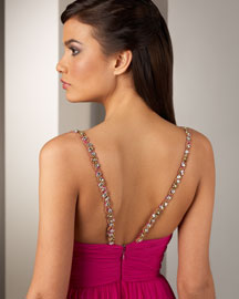 Notte by Marchesa Embroidered-Strap Dress -  Designer Collections  -  Bergdorf Goodman from bergdorfgoodman.com