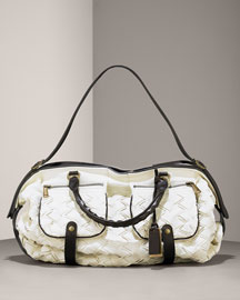 Gryson Jasper Woven Leather Shoulder Bag -  Handbags -  Bergdorf Goodman :  leather bag pockets natural designer bag