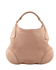 Miu Miu Nappa Teardrop Hobo -  Handbags -  Bergdorf Goodman :  beach miu miu hobo goodman