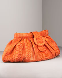 Carlos Falchi Matte Python Clutch -  Shoes & Handbags -  Bergdorf Goodman  :  clutches