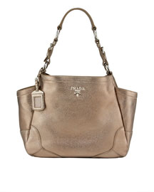 Prada Vitello Daino Pocket Tote -  Fall Collection -  Bergdorf Goodman :  prada tote brown bag bag
