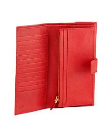 Prada Saffiano Continental Wallet Red Prada Bergdorf Goodman ...