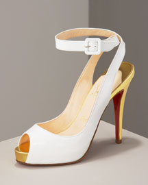 Christian Louboutin Patent Ankle-Wrap Pump -  Shoes -  Bergdorf Goodman from bergdorfgoodman.com