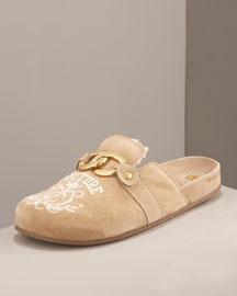 Juicy Couture Brook Embroidered Clog -  Shoes -  Bergdorf Goodman :  clog embroidered juicy brook