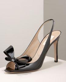 Valentino            Bow Slingback-  Shoes-Bergdorf Goodman :  valentino