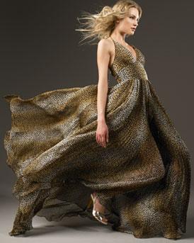 D&G Dolce & Gabbana            Leopard Halter Gown-  D&G Dolce & Gabbana-Bergdorf Goodman