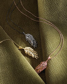 Sydney Evan Feather Pendant Necklaces -  Sydney Evan -  Bergdorf Goodman