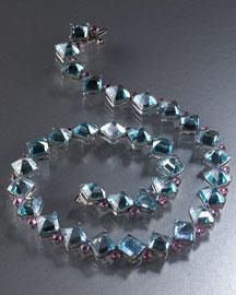 PAULO COSTAGLI            Blue Topaz & Pink Sapphire Necklace-  Paolo Costagli-Bergdorf Goodman