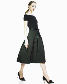 Heidi Weisel Cashmere-Bodice Dress -  Designer -  Bergdorf Goodman :  luxe womens clothing womens summer
