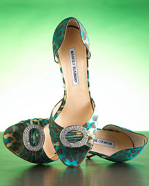 Manolo Blahnik Houristra Leopard-Print d'Orsay -  Spring Collection -  Bergdorf Goodman from bergdorfgoodman.com