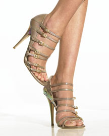 Jimmy Choo Patent Multi-Buckle Sandal -  Shoes -  Bergdorf Goodman from bergdorfgoodman.com