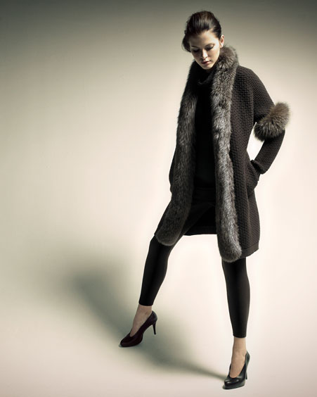 Pre-Fall Collections - BG Focus  -  Bergdorf Goodman :  loro piana cashmere leggings fur-trim