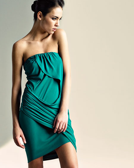 Y-YIGAL :  strapless emerald