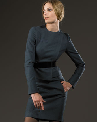 Akris Asymmetric Jacket & Knee Skirt -  Akris -  Bergdorf Goodman :  akris skirt pockets woolangora