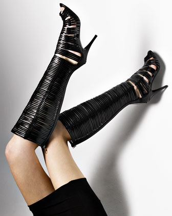 Bergdorf Goodman - Handbags - Spring Trends :  italy boot black boots