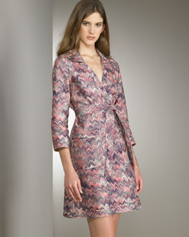 Ready-To-Wear - Missoni  -  Bergdorf Goodman :  zigzag pink multicolor reversible