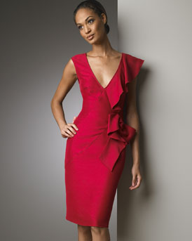 Oragami Front Dress -  Bergdorf Goodman :  designer fashon fashion silk valentino