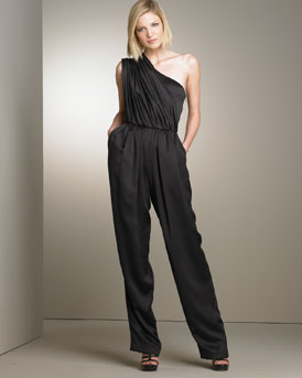 B0UQZ Derek Lam One Shoulder Jumpsuit