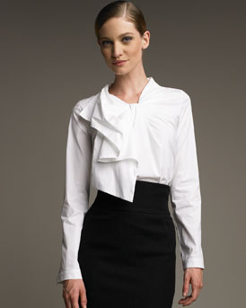 Aquilano Rimondi Pleated-Neck Blouse