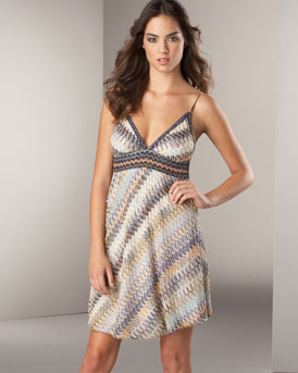 Ready-To-Wear - Missoni  -  Bergdorf Goodman :  mini multicolor stripes diagonal