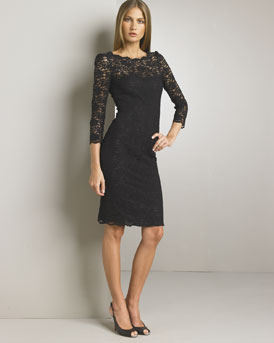 D&G Dolce & Gabbana Lace Overlay Dress :  black dress womens dresses little black dress